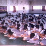Students of Jasudben School, Khar, Mumbai, concentrating