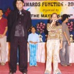 A 9 year old child, Miss Pooja Shah demonstrates her skills of mental maths